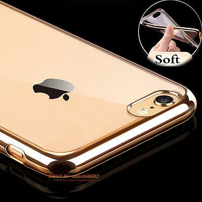 Luxury Slim Crystal Clear Soft TPU Rubber Silicone Case Cover For Various Phone