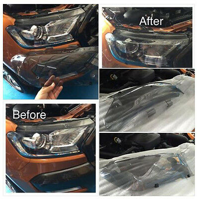 Ford Ranger T6 Mk2 Px2 Plastic Abs Front Headlight Lamp Cover Clear Len Trim 15