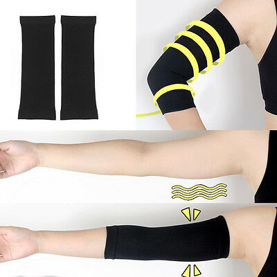 2X Slimming Black Arm Belt Band Toning Control Shaper Calorie Massage