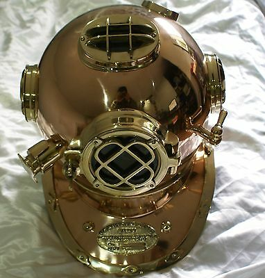 Elmo Mark V scafandro U.S. NAVY DIVING HELMET 1940 marina Royal Navy London