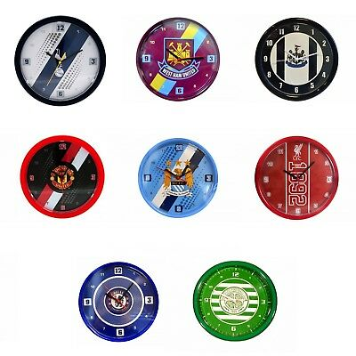 Football Soccer Crest Badge Wall Clock Team Club Fan Circle Official Product