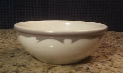 Vintage Buffalo China Gray Crest Cereal Bowl