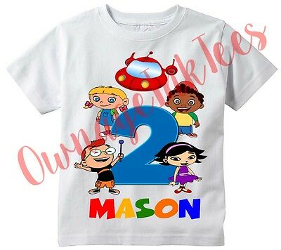 Little Einsteins Number Custom t-shirt Personalize Birthday gift Add NAME/AGE