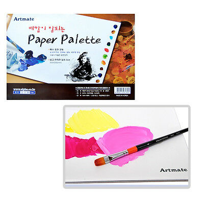 AST Paper Palette 20 Sheets 12 x 8 inch Pad for Watercolor Acrylic Oil Paint