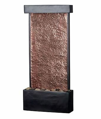 home table desk tabletop indoor waterfall water fountain decor bronze & copper