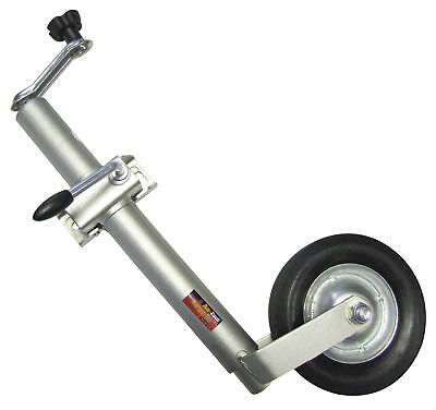 Jockey Wheel Heavy Duty 200mm Clamp 160Kg Trailer Caravan 570-840mm Adjustable