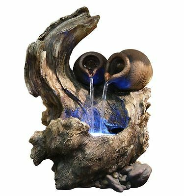 home table desk tabletop indoor waterfall water fountain decor LED light new