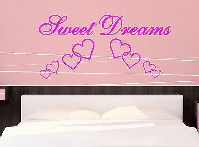 Sweet Dreams-Quote-Vinyl-Decal-Art-Wall-Stickers-Home-Room-Decor
