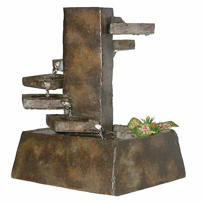 home table desk tabletop indoor waterfall water fountain decor step stone new