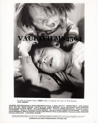 "CHUCKY - ALEX VINCENT - Original 10"" x 8"" b/w Photograph CHILD'S PLAY 2 B#14"