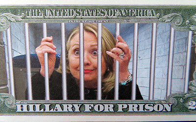 Hillary for Prison FREE SHIPPING! Million-dollar novelty bill