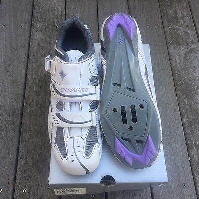 NIB Specialized Women's Torch Road Shoes Size 37 EU, 7 US White/Lavender