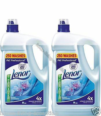 Lenor Spring Awakening Fabric Softener 500 Wash Concentrated 2 X 5L