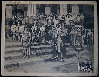 Queen Of Sheba '21 Silent Epic Lobby Card!  William Fox Epic Biblical Lost Film!