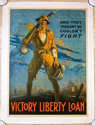 $ Cut Again Wwi Victory Liberty Lb Poster - 'and They Thought We Couldn't Fight'