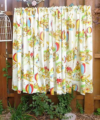 Vintage Curtains, WINNIE THE POOH, and Friends, Disney Curtains, Two Panels