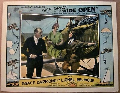 Wide Open '27 Lc Spectacular Daredevil Aviation Airplane Parachute Border Art!