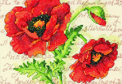 Dimensions - Counted Cross Stitch Kit - Poppy Pair - D70-65116