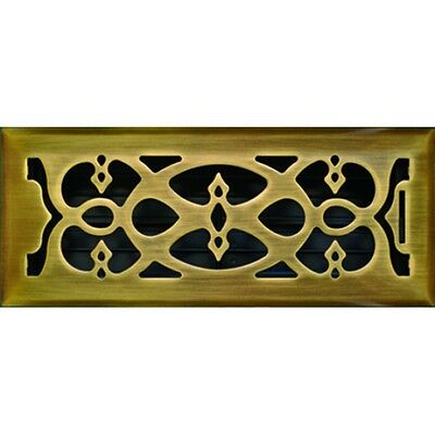 Antique Brass Victorian Floor Vent Register Cover for Ducted Heating 100x300mm