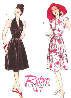 Day Dress PATTERN 1947 Retro Butterick 5209 Repro Sz 6-20 Pearl Harbor style