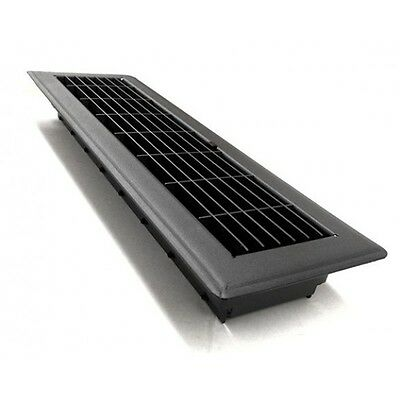Charcoal Metal Floor Vent Register Cover for Ducted Heating Cooling 100x400mm