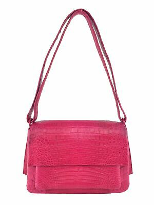 Nancy Gonzalez Crocodile Shoulder Flap Bag