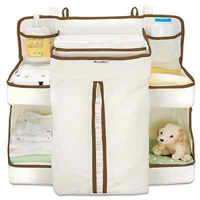 Baby Nappy Changing Bag Diaper Storage Dispenser Nappies Wipes Hanger Box Cot