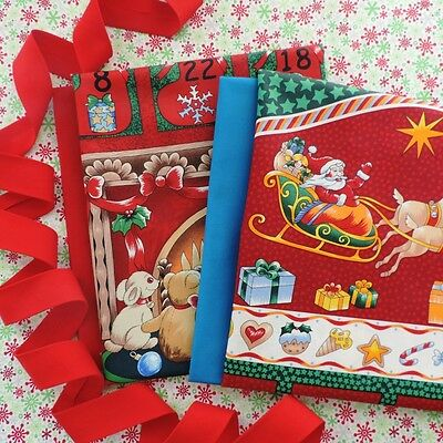 QUILT Easy Sew Christmas Advent Calendar Reindeer & Stocking -Panel Backing Bias