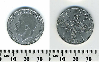 Great Britain 1922 - 1 Florin Silver Coin - King George V - #2