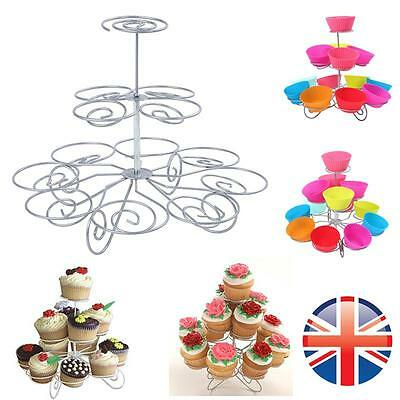 *UK Seller* 13 Cupcake 3 Tier Party Display Stand Cupcake Muffins Holder