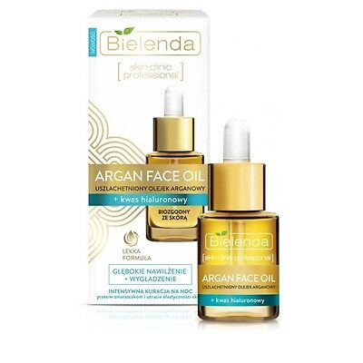 Bielenda Face Argan Oil Hyaluronic Acid Anti Wrinkle Ageing Night Treatment