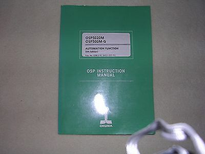 Okuma CNC Systems OSP5020M, 500M-G Automation Function OSP Instruction Manual