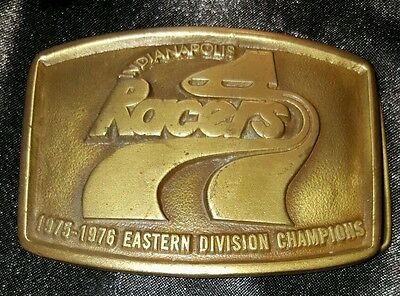 INDIANAPOLIS RACERS 75-76 VINTAGE EASTERN DIVISION CHAMPION belt buckle Gretzky