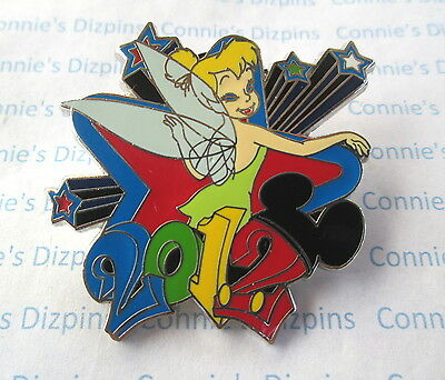 TINKER BELL - 2012 RED BLUE STAR Mickey Ears Tinkerbell Disney Tink MYSTERY Pin