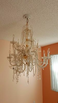 "36"" by 30"" Crystal Glass 12 lights Chandelier"