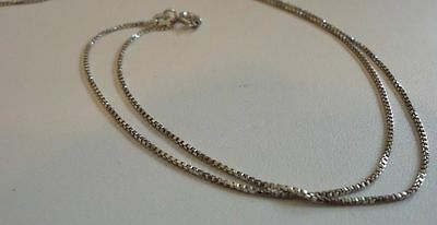 925 Sterling Silver Ladies Designer Box Style Chain /18 Inch Long /Italian Made