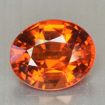 ~FLAWLESS~ 4.80 Cts Natural Spessartite Garnet Fanta Orange Oval Namibia (Video