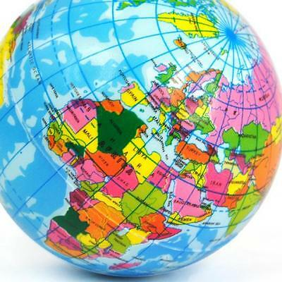 New World Map Foam Earth Globe Stress Relief Bouncy Ball Atlas Geography Toy Sh