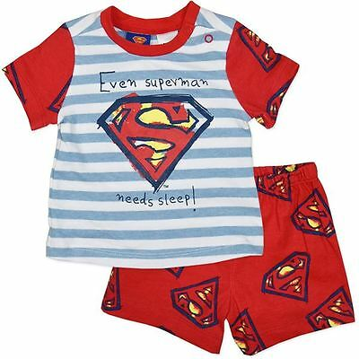Dc Comics Superman Pyjamas Even Superman Needs Sleep Bnwt Size 00, 0, 1 , 2