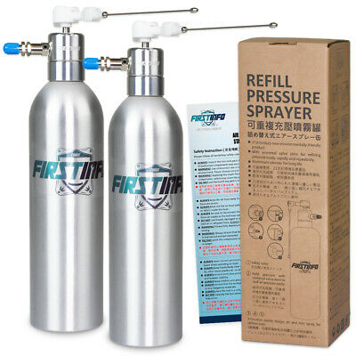 FIT TOOLS  2 Sets Aluminum Can Air / Pneumatic Refillable Pressure Sprayer
