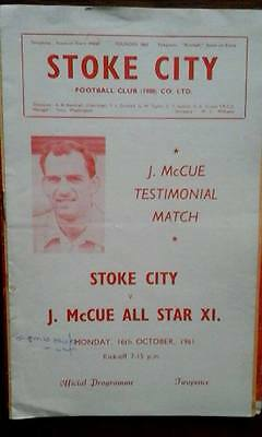 Stoke V All Star X1 16/10/1961 J. Mc Cue Testimonial