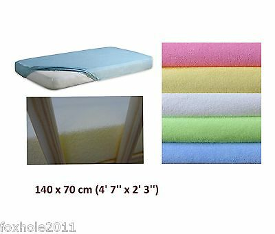 Terry Sheet Fits Baby Crib Cot Cotbed Junior Bed Mattress 140 x 70 cm