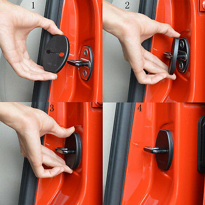 4pcs Decorative Accessory Stainless Steel Door Lock Protective Covers For VW