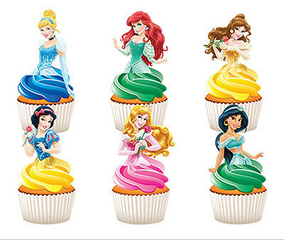 12 Edible Disney Princess Half Body Stand Up Cupcake Cup Cake Images Toppers