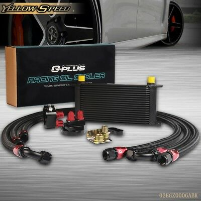 19 ROW 10AN Alumnum Engine/Transmission Oil Cooler+Filter Relocation Kit