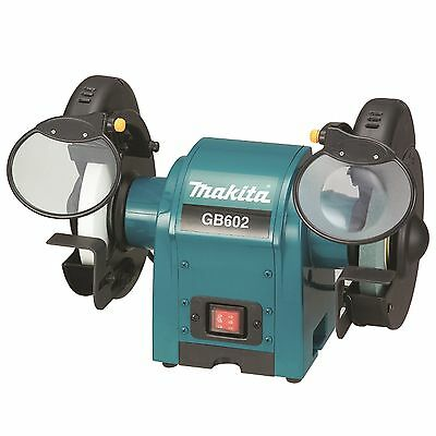 Makita BENCH GRINDER 250W 150mm 2 Wheel Covers, Built In Tool Rest Japan Brand