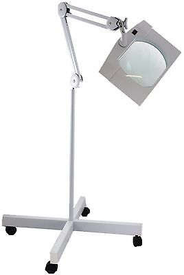 V.large Lens Floor Stand Long Reach Led Illuminated Magnifier Quality Uk Factory