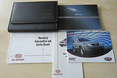 KIA RIO MK1 2003-2005 Owners Manual Handbook & SERVICE BOOK with Wallet Pack