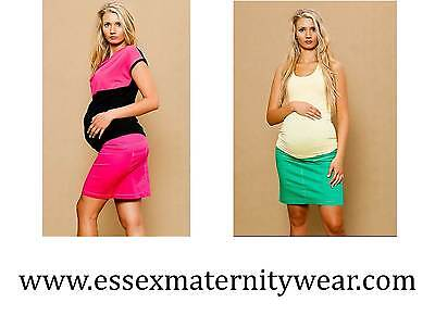 BNWT Maternity Summer Skirt Pink or Green Size 10 - 18