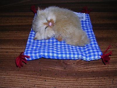 Realistic Lifelike Cat In Bed Synthetic Fur Furry Animal